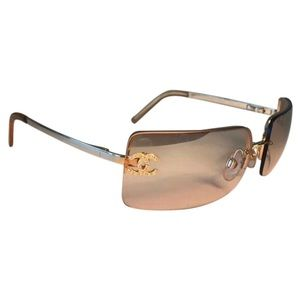 CHANEL Gold Rimless Sunglasses